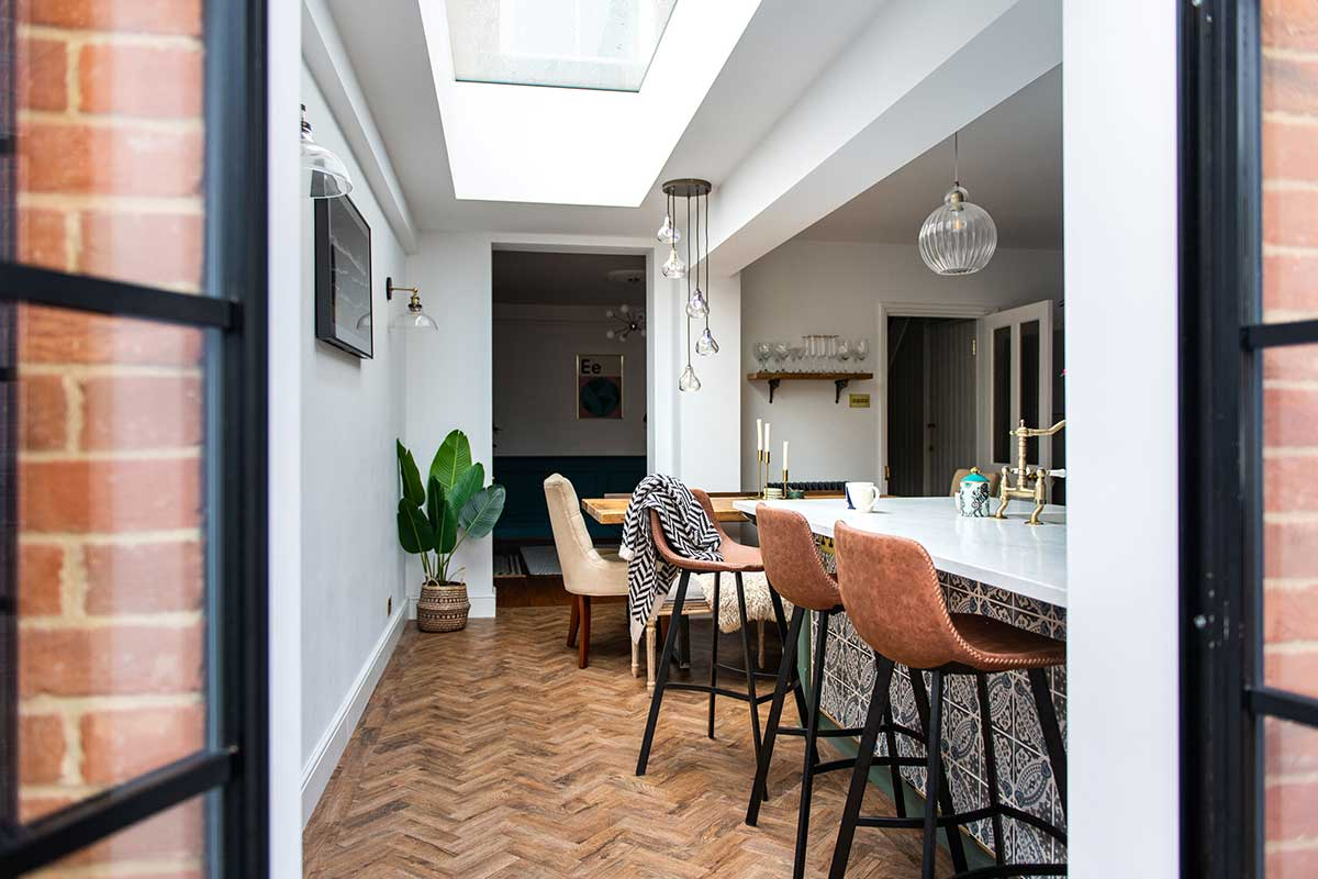 vario by velux bespoke long slim rooflight side extension